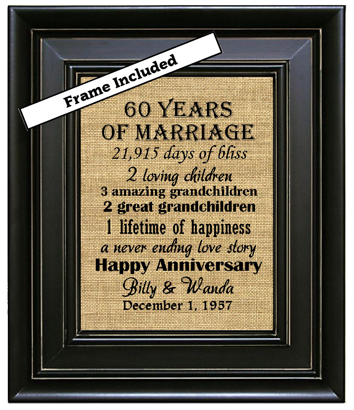60 Wedding Anniversary Gift Ideas  What Is The Traditional 60th Wedding Anniversary Gift
