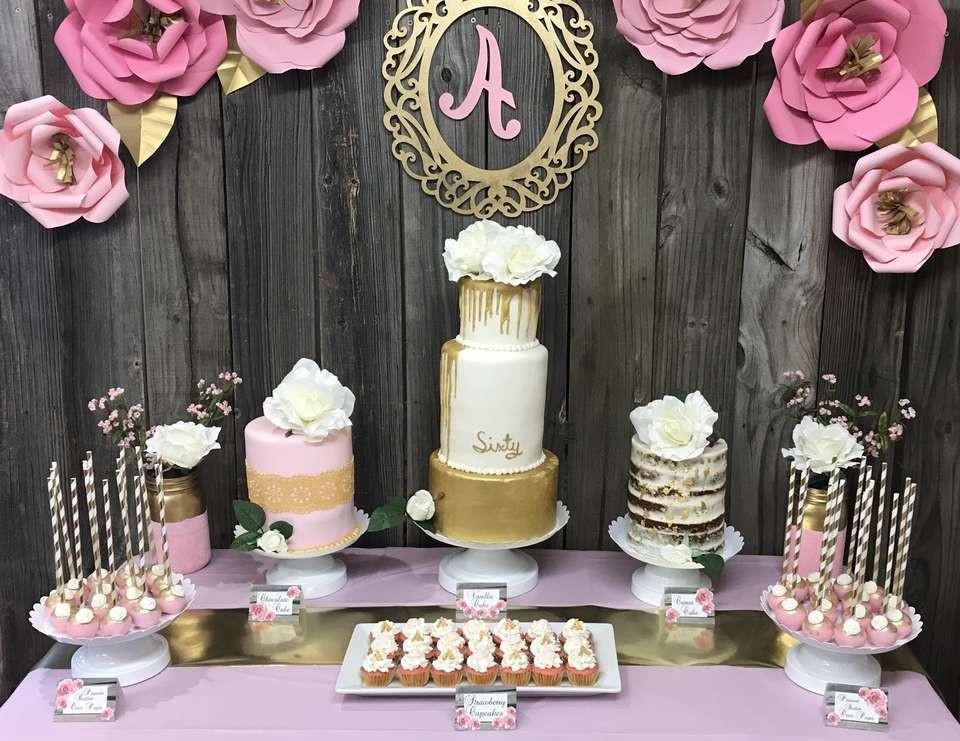 "60th Birthday Decorations For Mom  Rustic Birthday ""Mom s 60th Birthday Party """
