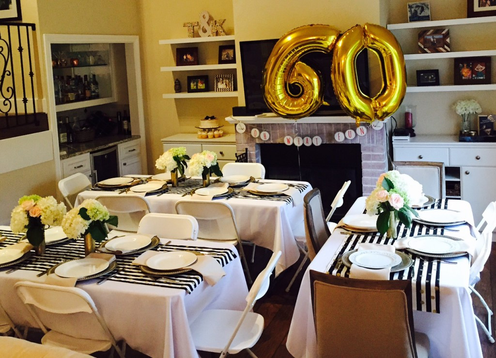 60th Birthday Decorations For Mom  Golden Celebration 60th Birthday Party Ideas for Mom