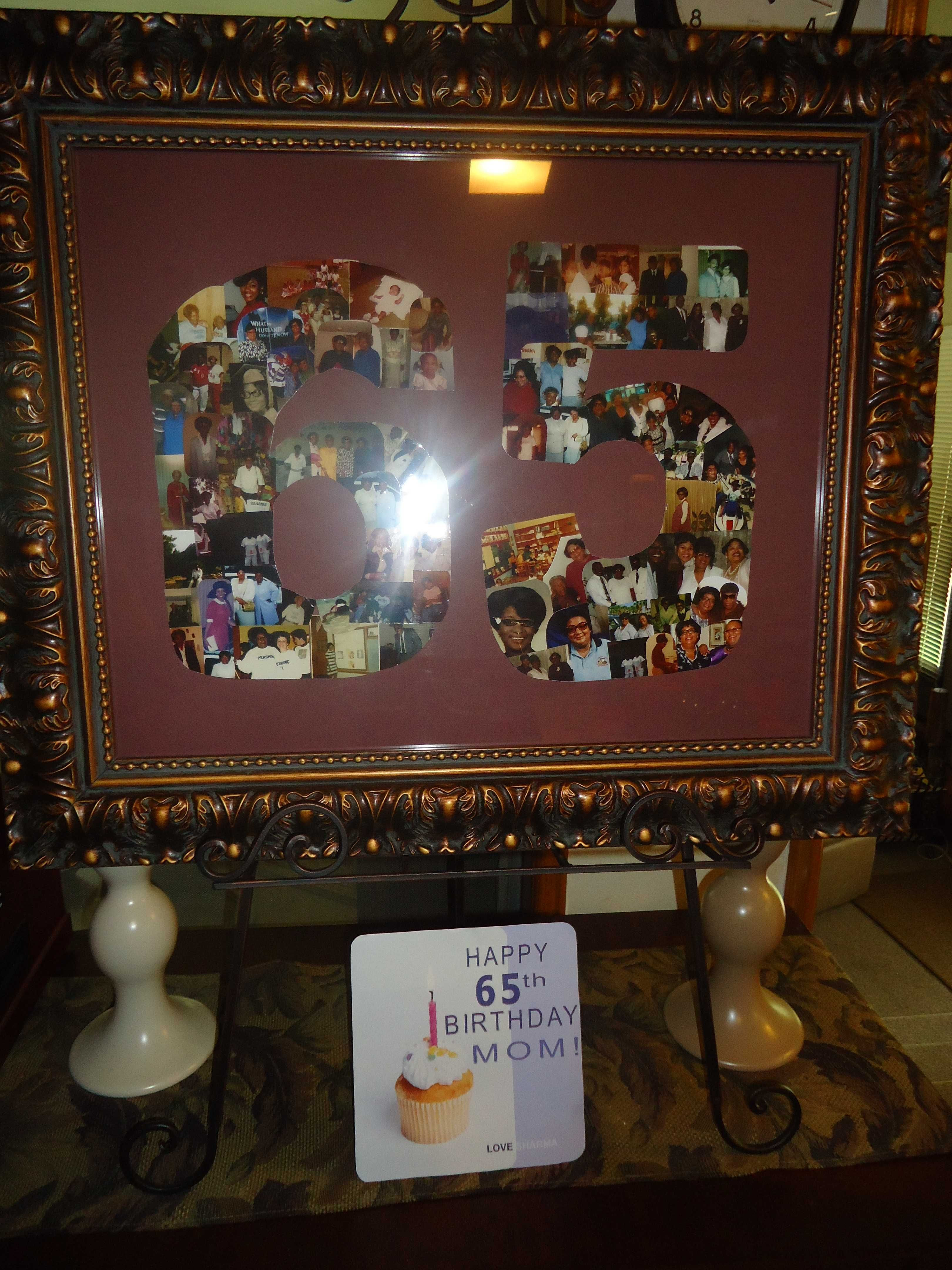 Best ideas about 65Th Birthday Gift Ideas For Dad . Save or Pin My co worker did this for me for my mom s 65th birthday Now.