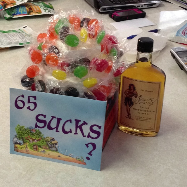 Best ideas about 65Th Birthday Gift Ideas For Dad . Save or Pin Dad s Sucker Cake for his 65th Birthday Our version of Now.