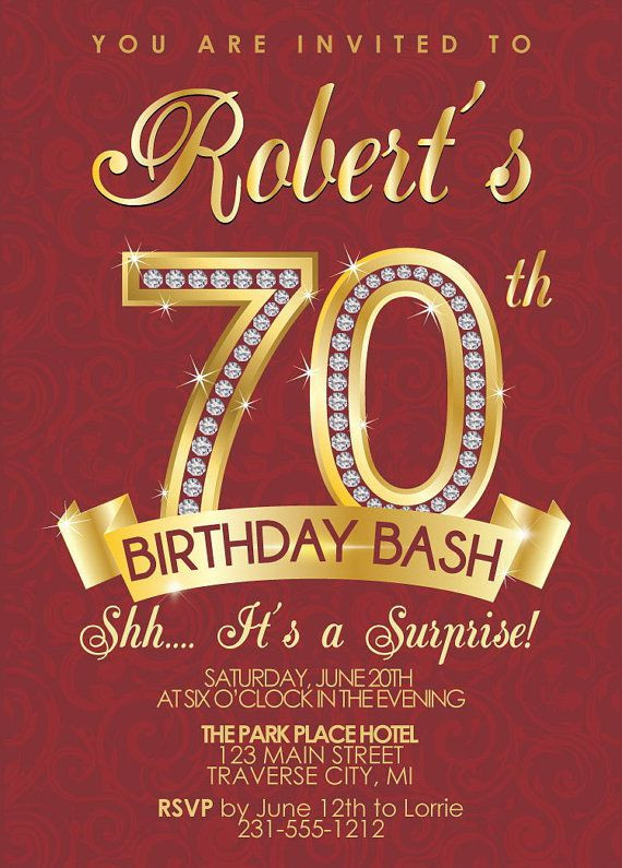 Best ideas about 70 Birthday Invitations . Save or Pin 15 70th Birthday Invitations Design and Theme Ideas Now.