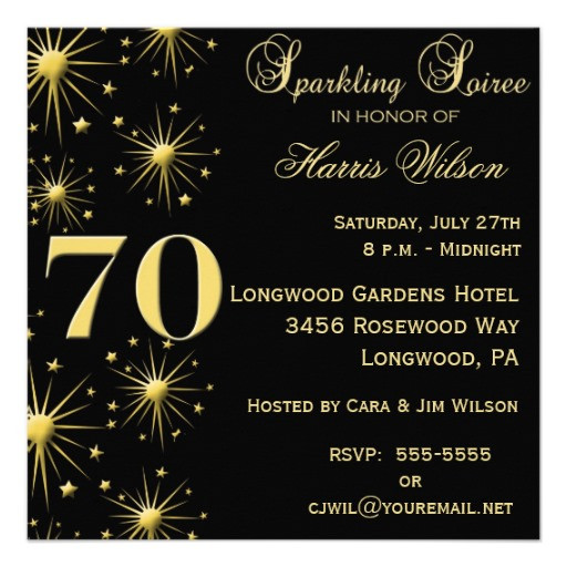 Best ideas about 70 Birthday Invitations . Save or Pin 70th Birthday Party Invitations Wording Now.