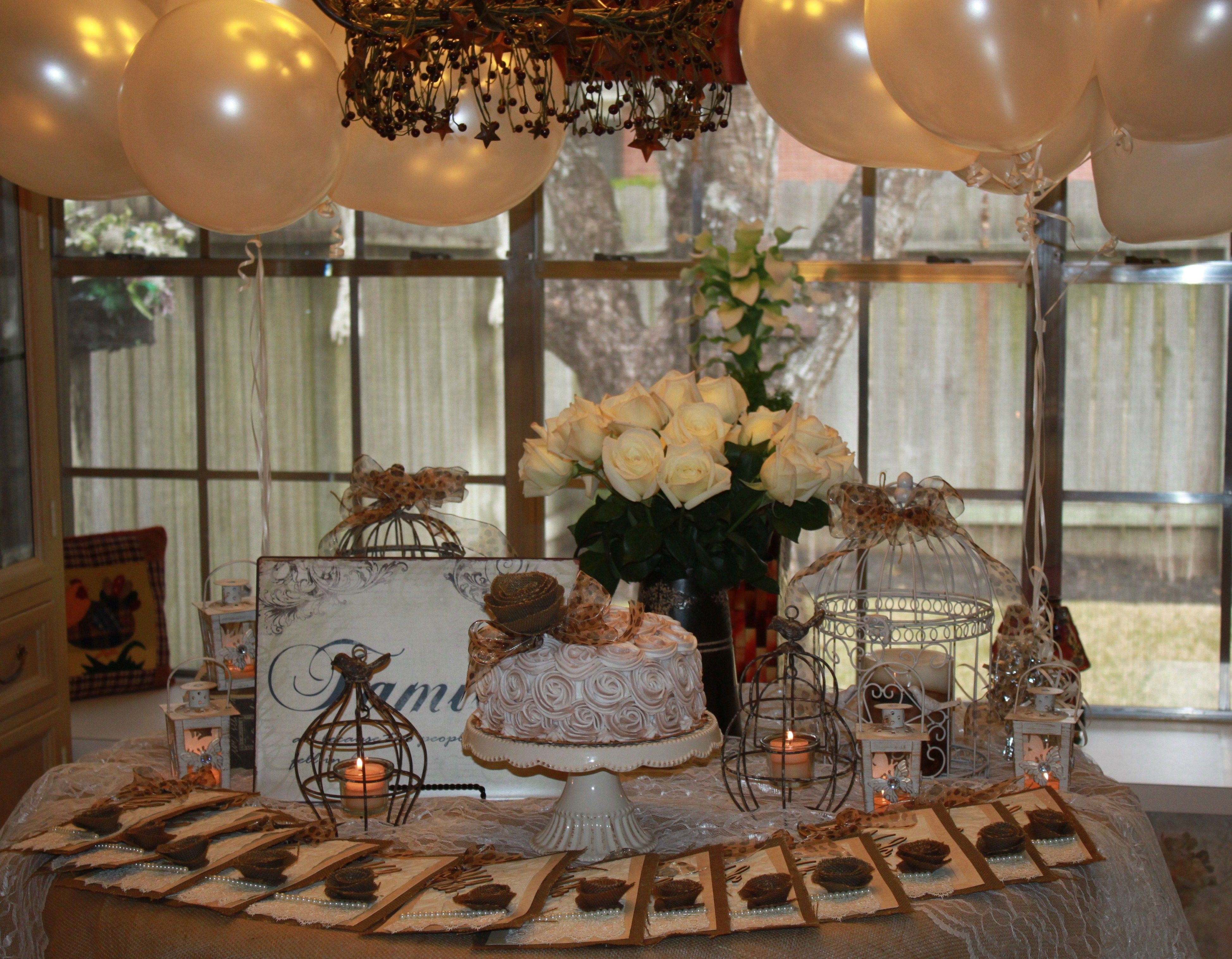 75th Birthday Party Decorations  A vintage garden themed party for mom s 75th birthday
