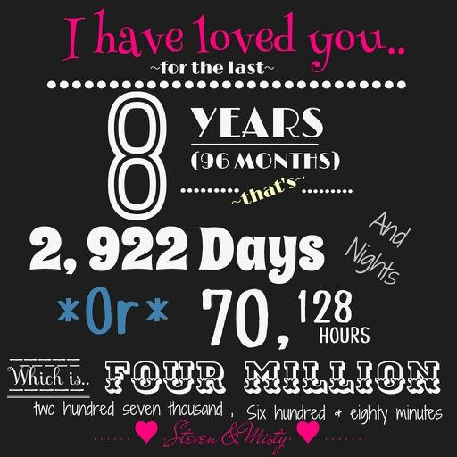 8 Year Anniversary Gift Ideas  25 best ideas about 8 Year Anniversary on Pinterest