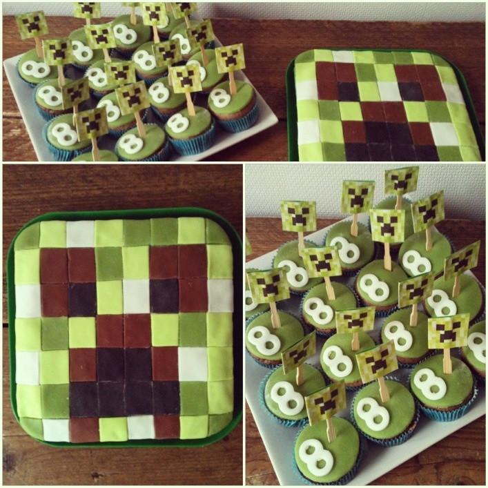 8 Year Old Boy Birthday Gift Ideas  Minecraft birthday cake for a 8 year old boy cupcakes