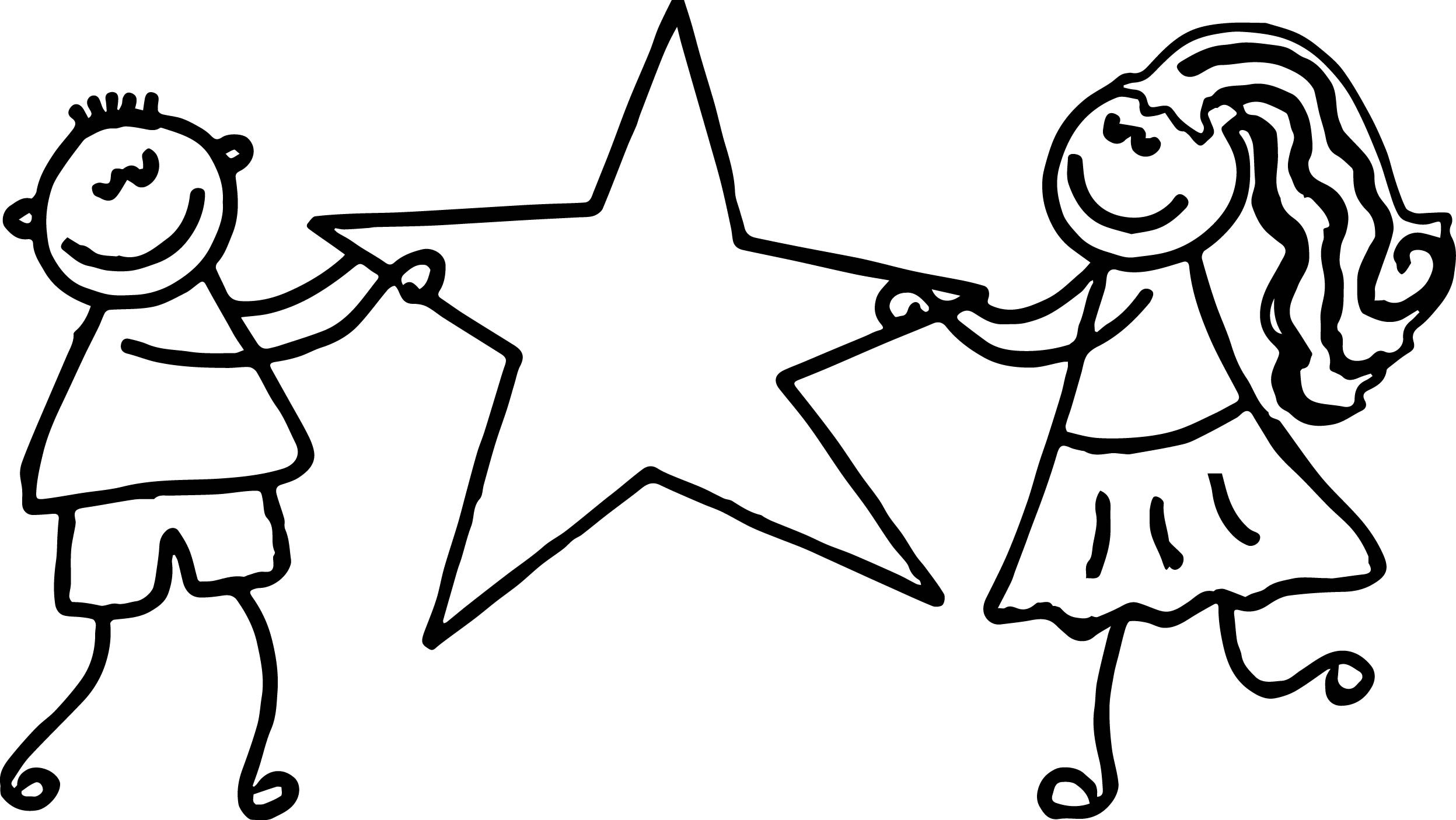 9Th Grade Coloring Sheets For Girls  Kids Girl Boy Hold Star 3rd Grade Coloring Page