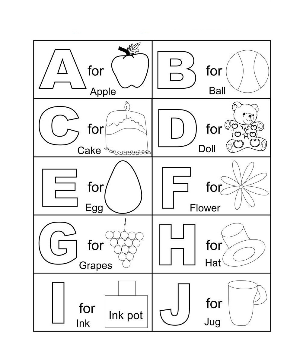 A B C Coloring Books  Free Printable Abc Coloring Pages For Kids