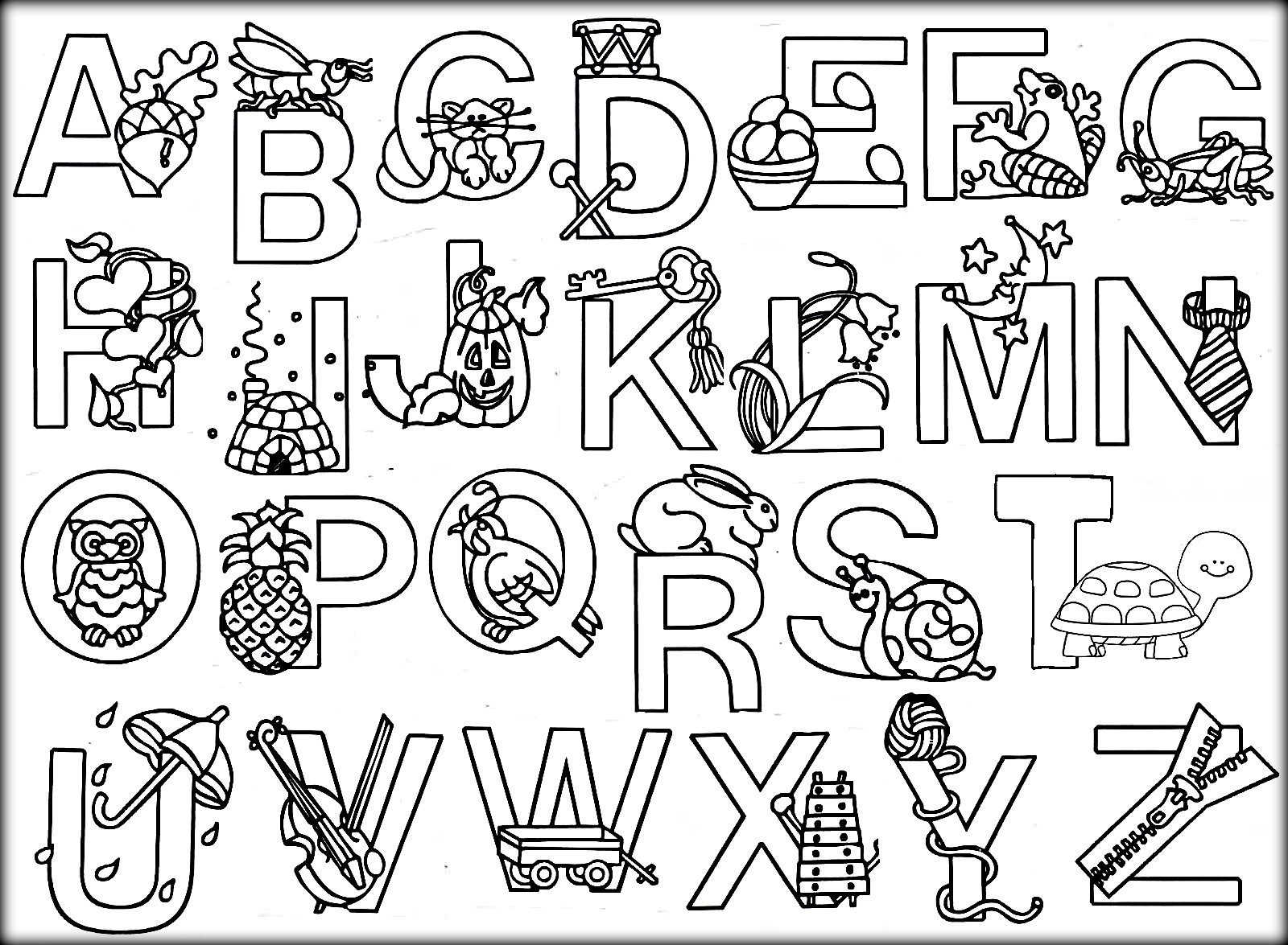A B C Coloring Books  Impressive Alphabet Colouring Page 614