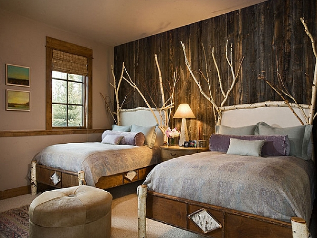 Best ideas about Accent Wall Decor . Save or Pin Decorating ideas for small master bedrooms rustic wood Now.