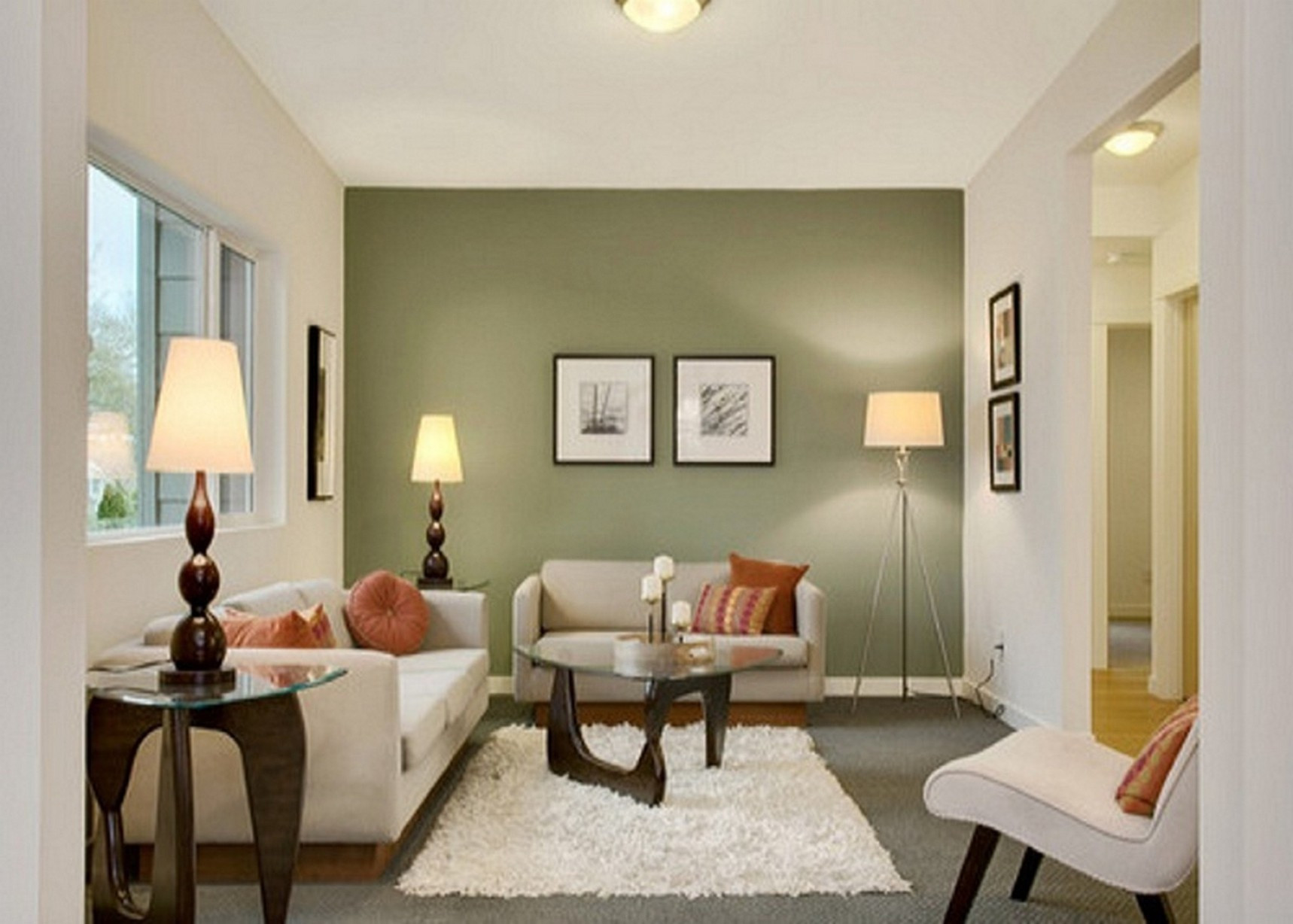 Best ideas about Accent Wall Ideas For Small Living Room . Save or Pin Color for Painted Accent Wall Living Room — LIVING ROOM Now.