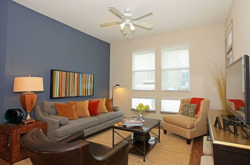 Best ideas about Accent Wall Ideas For Small Living Room . Save or Pin Blue Sea Living Room Paint Ideas With Accent Wall — TEDX Now.
