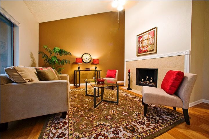 Best ideas about Accent Wall Ideas For Small Living Room . Save or Pin Wall Paint Color Schemes Living Room Now.