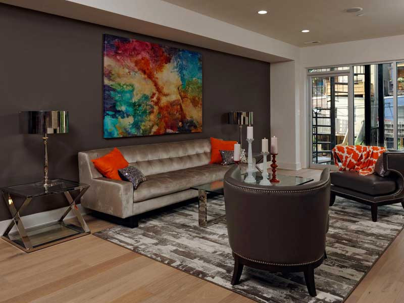 Best ideas about Accent Wall Ideas For Small Living Room . Save or Pin Living Room Paint Color Ideas For Warm Atmosphere Now.
