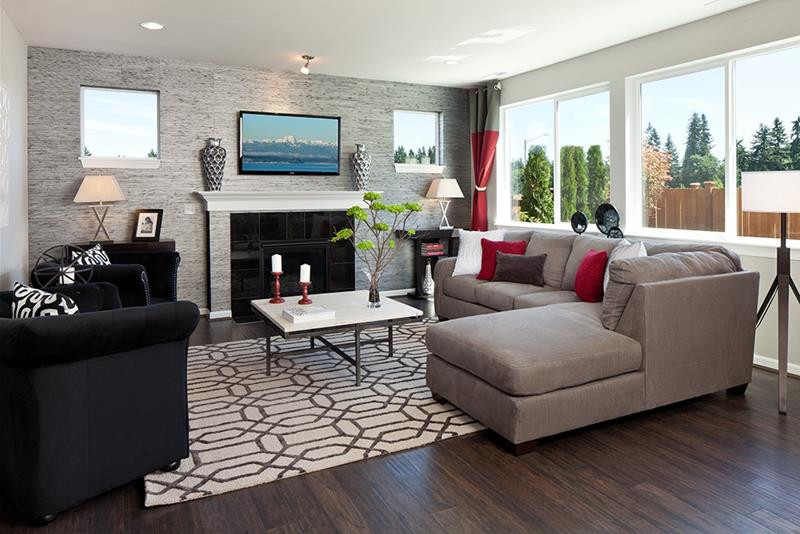 Best ideas about Accent Wall Ideas Living Room . Save or Pin 24 Design Ideas for Living Room Walls Now.