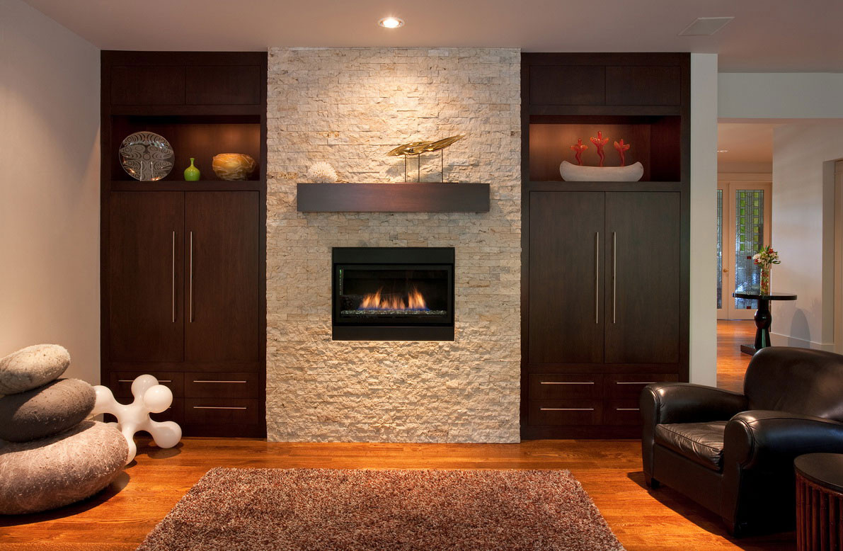 Best ideas about Accent Wall Ideas With Fireplace . Save or Pin Interior Interior Accent Ideas Using Brick Fireplace Now.