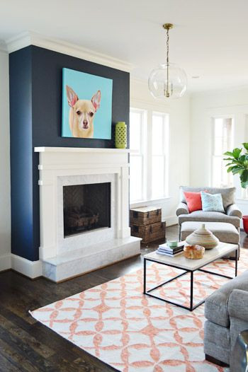 Best ideas about Accent Wall Ideas With Fireplace . Save or Pin Blue accent walls Accent walls and Blue accents on Pinterest Now.