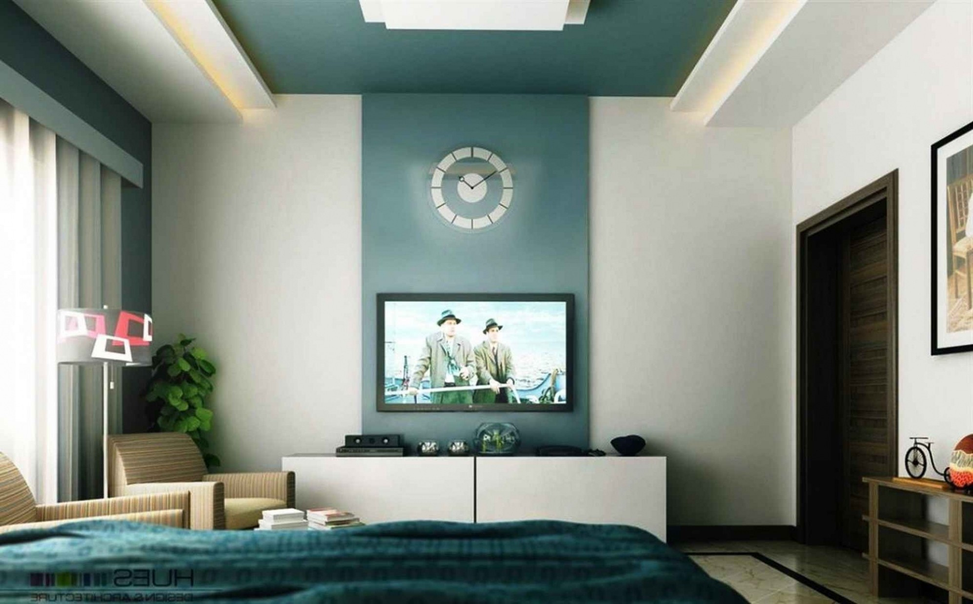Best ideas about Accent Wall Painting . Save or Pin Bedroom Painting Ideas With Accent Wall Now.