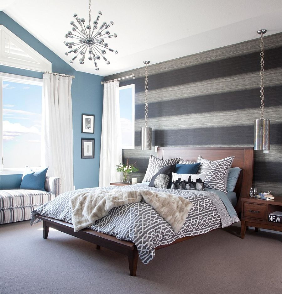 Best ideas about Accent Walls Designs . Save or Pin 20 Trendy Bedrooms with Striped Accent Walls Now.