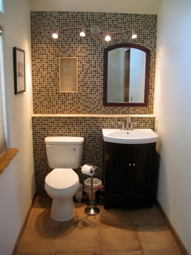 Best ideas about Accent Walls In Bathrooms . Save or Pin Small Bathroom Colors Now.