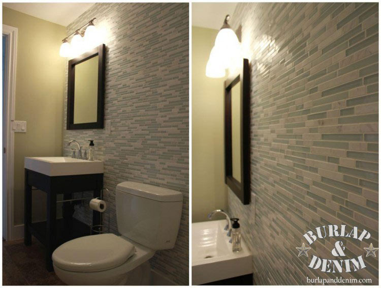 Best ideas about Accent Walls In Bathrooms . Save or Pin Take it up a Notch with Glass and Marble Tile Mosaic Now.