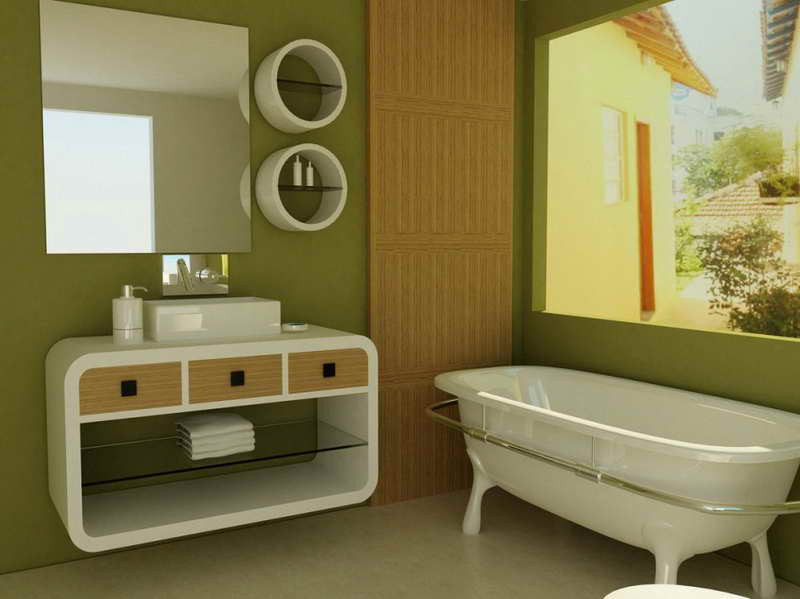 Best ideas about Accent Walls In Bathrooms . Save or Pin 40 Creative Ideas for Bathroom Accent Walls Designer Mag Now.