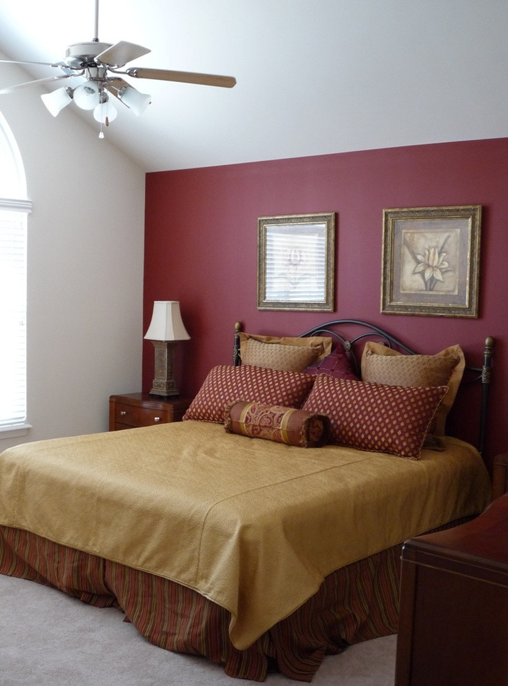 Best ideas about Accent Walls In Bedroom . Save or Pin Most Popular Bedroom Paint Color Ideas Now.