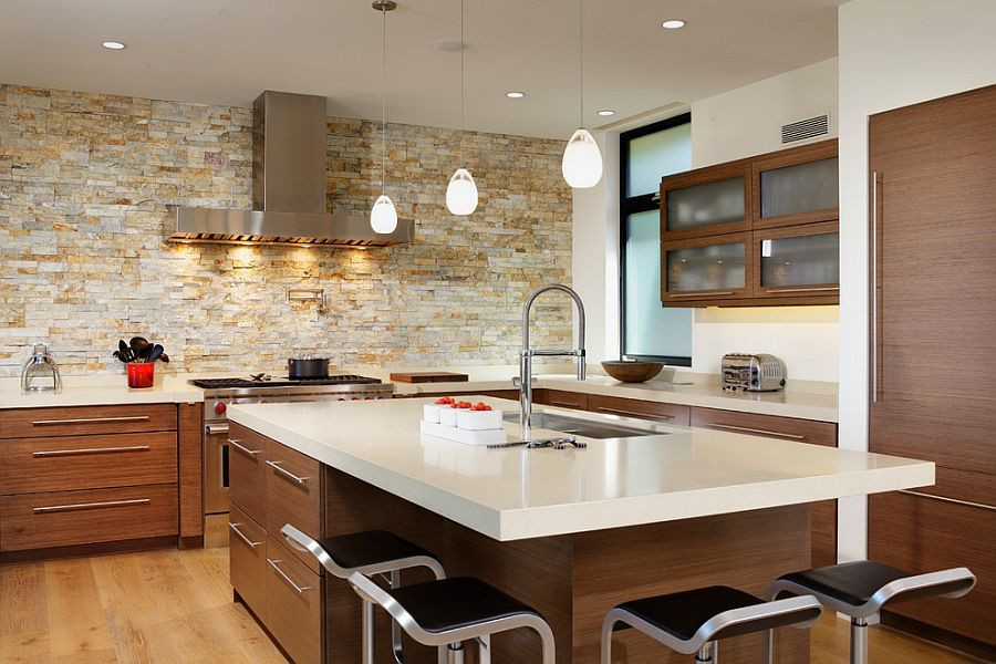 Best ideas about Accent Walls In Kitchen . Save or Pin 30 Inventive Kitchens with Stone Walls Now.