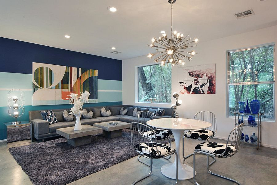 Best ideas about Accent Walls Living Room . Save or Pin 15 Fabulous Living Rooms with Striped Accent Walls Now.