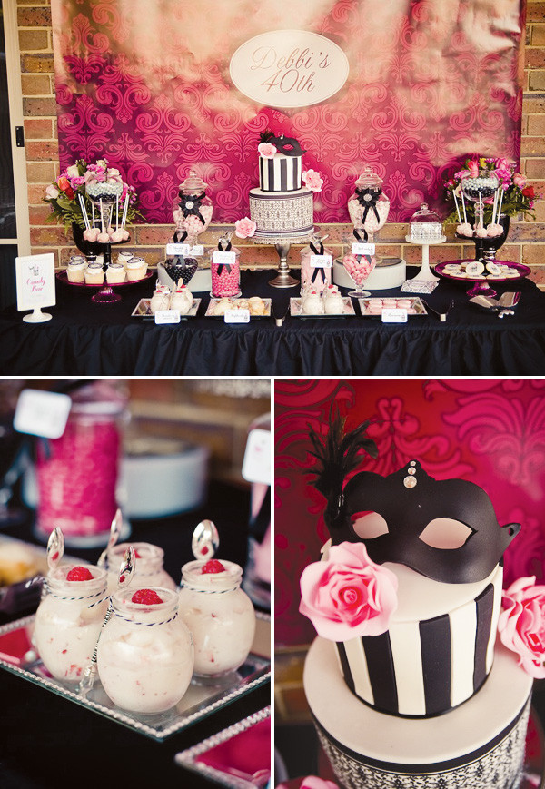 Adult Birthday Decorations  rivernorthLove Masquerade Ball 40th Birthday