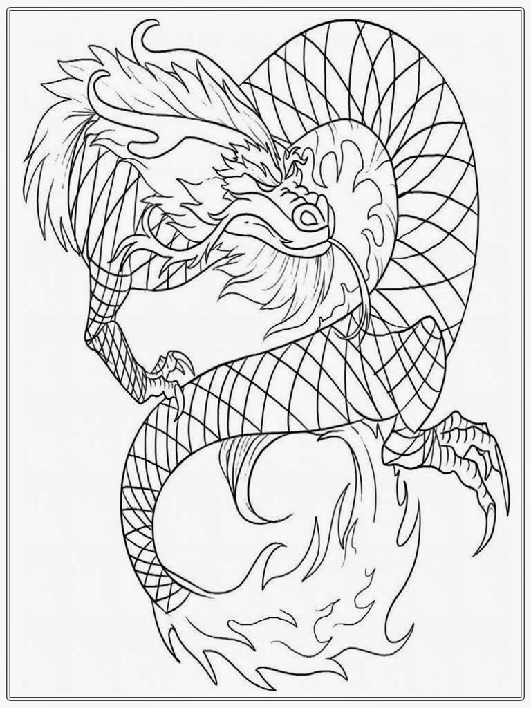 Adult Coloring Book Dragon  Chinese Dragon Adult Coloring Pages
