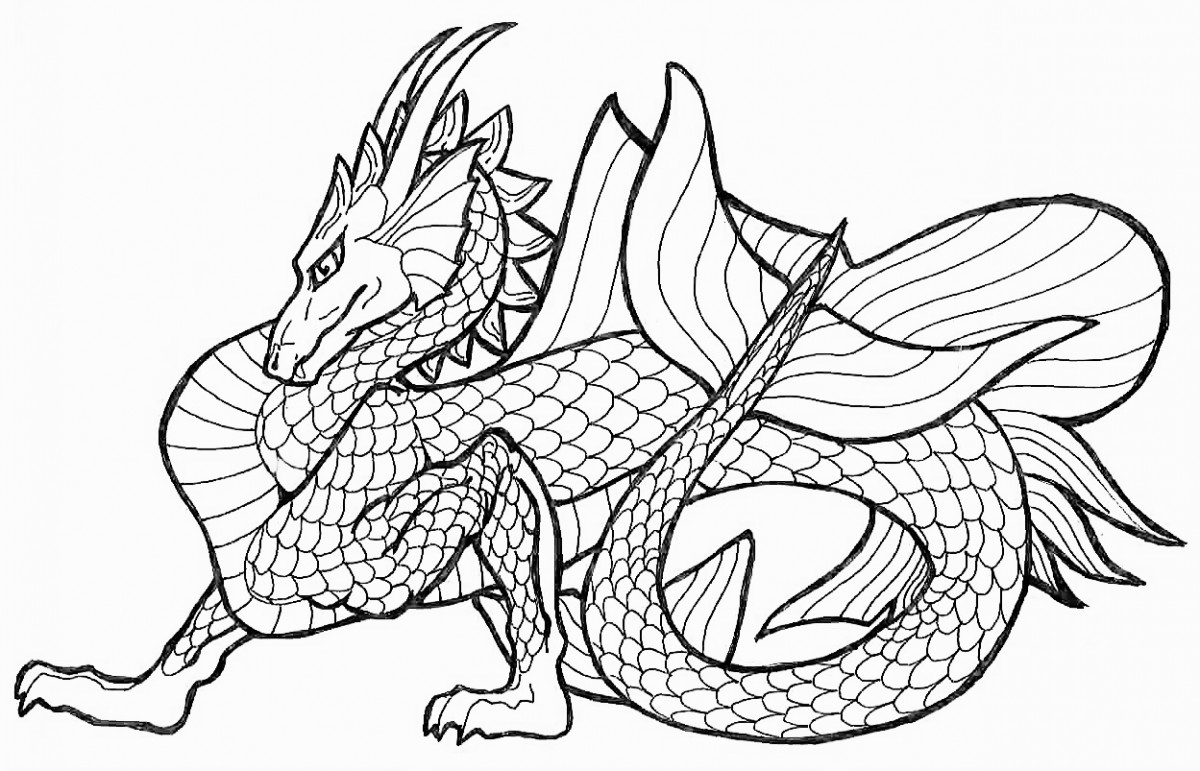 Adult Coloring Book Dragon  Free Printable Chinese Dragon Coloring Pages For Kids