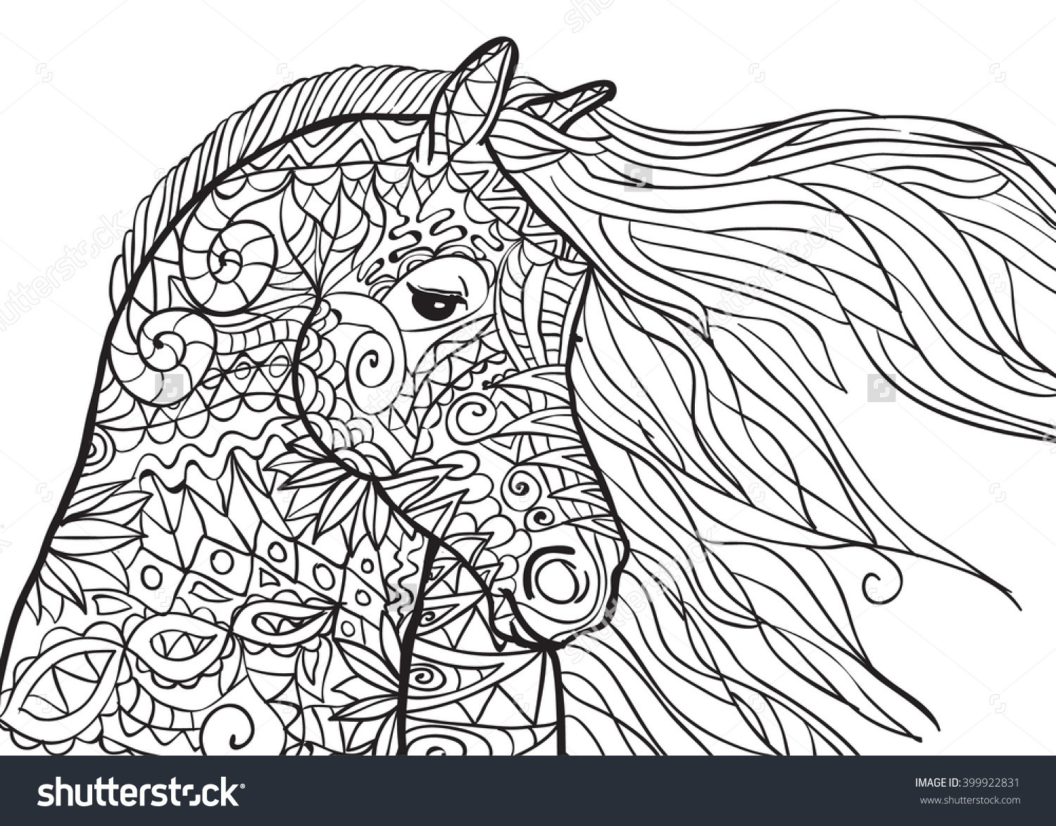 Adult Coloring Book Horse  Adult Horse Coloring Pages