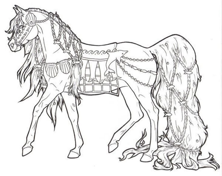 Adult Coloring Book Horse  Free Printable Horse Coloring Pages For Adults