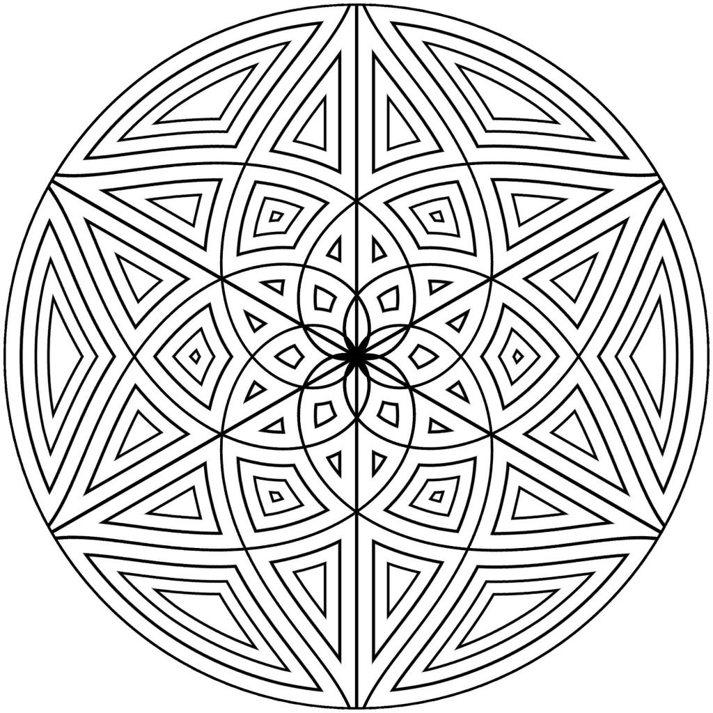 Adult Coloring Book Pages Geometric  Free Printable Geometric Coloring Pages for Adults
