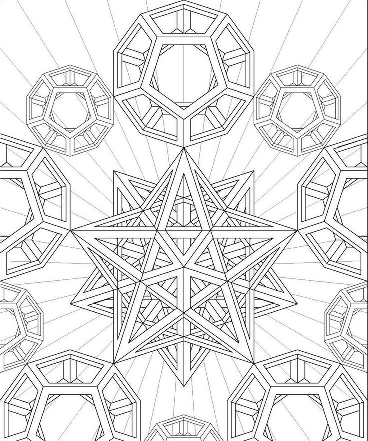 Adult Coloring Book Pages Geometric  24 Free Printable Geometric Coloring Pages Gianfreda