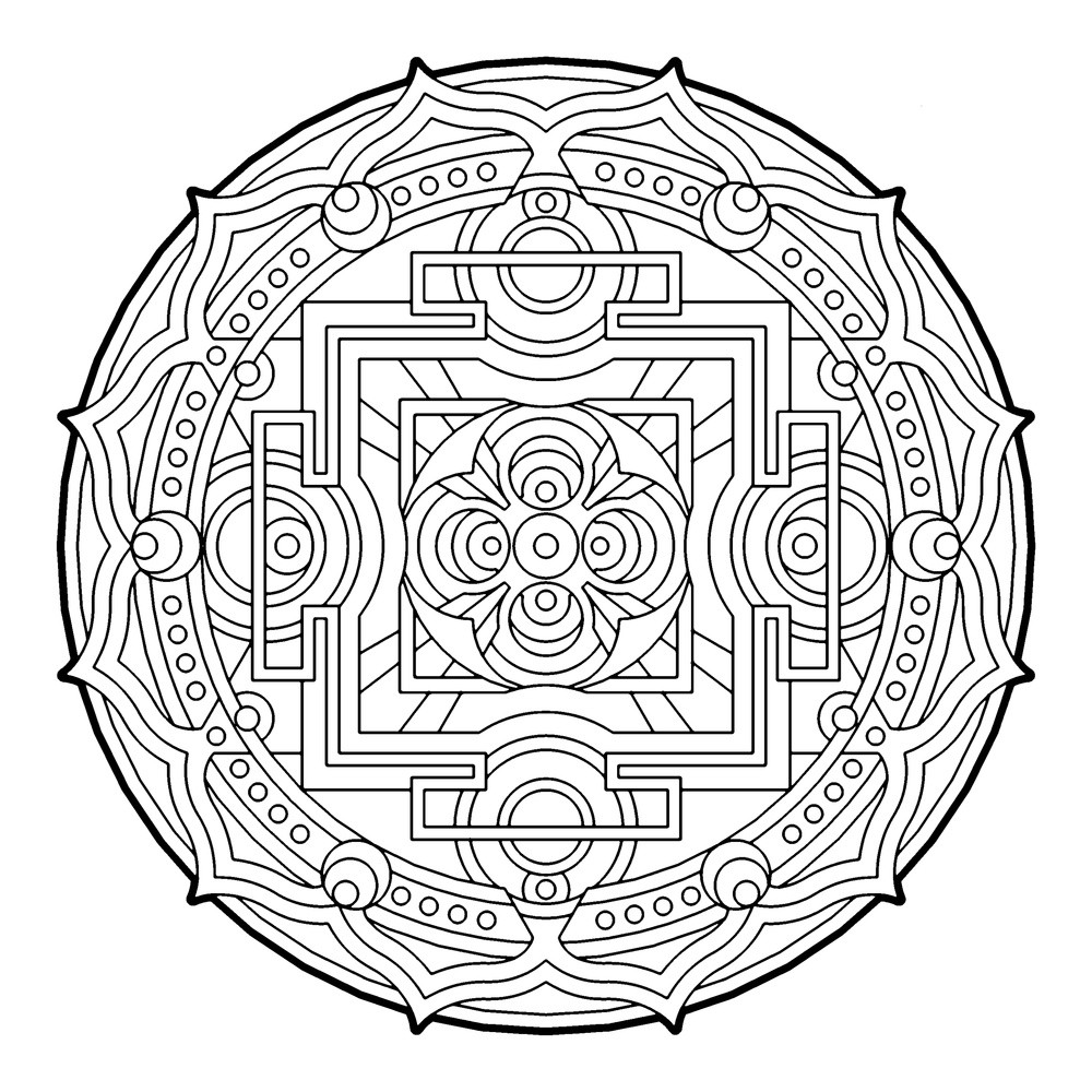 Adult Coloring Book Pages Geometric  Many Geometric Pattern Coloring Pages for Adults