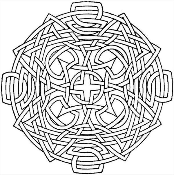 Adult Coloring Book Pages Geometric  11 Coloring Pages For Adults JPG PSD Vector EPS
