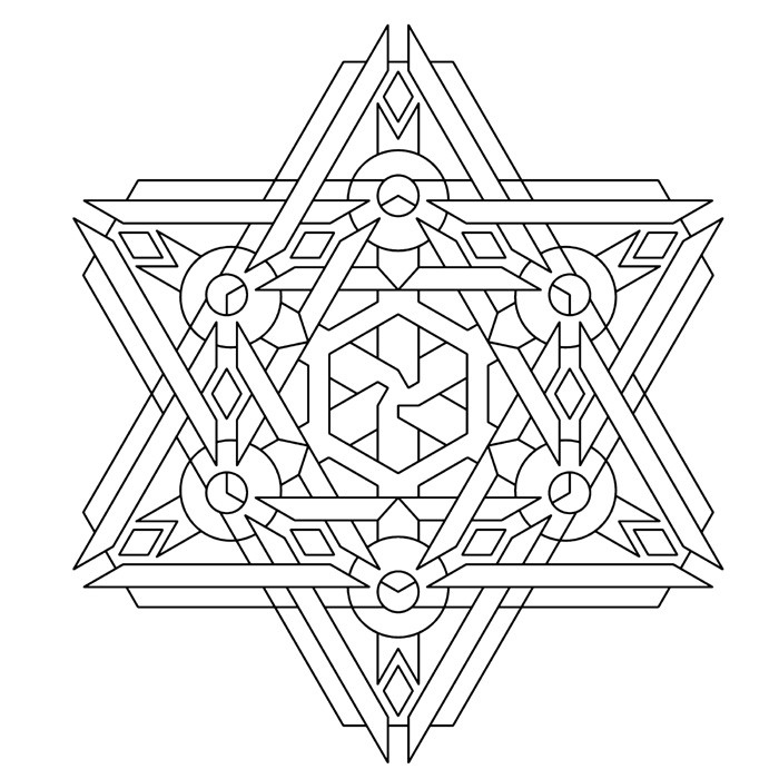 Adult Coloring Book Pages Geometric  Free Geometric Coloring Pages For Adults