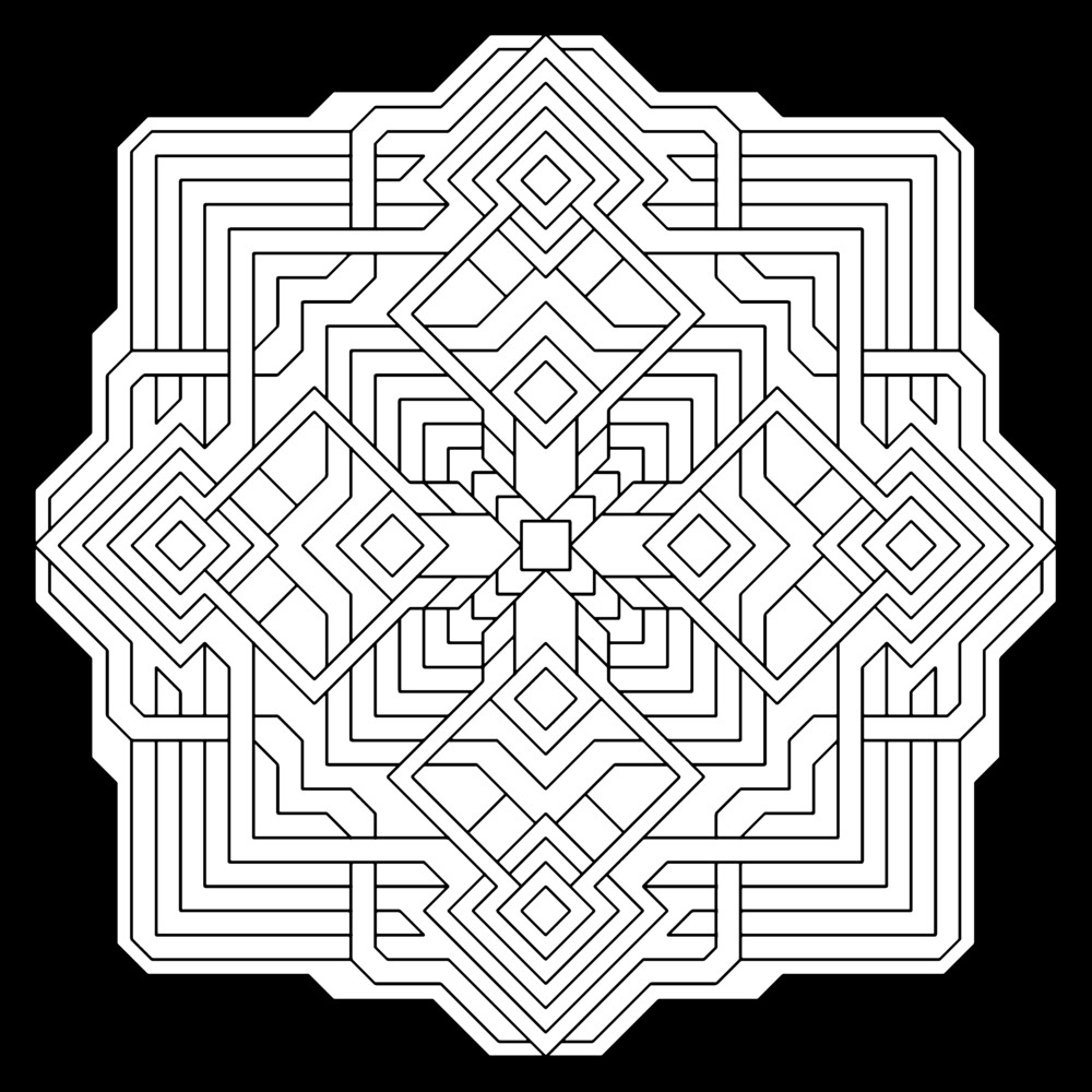 Adult Coloring Book Pages Geometric  Geometric Coloring Pages coloringsuite