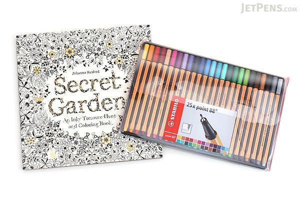 Adult Coloring Book Sets  JetPens Adult Coloring Book Set JetPens