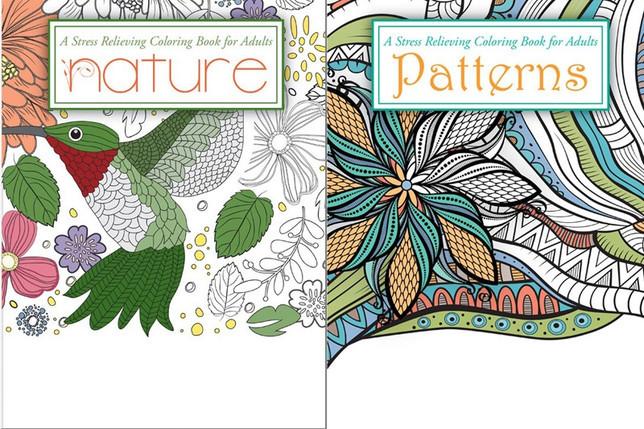 Adult Coloring Book Sets  Adult Coloring Book Set