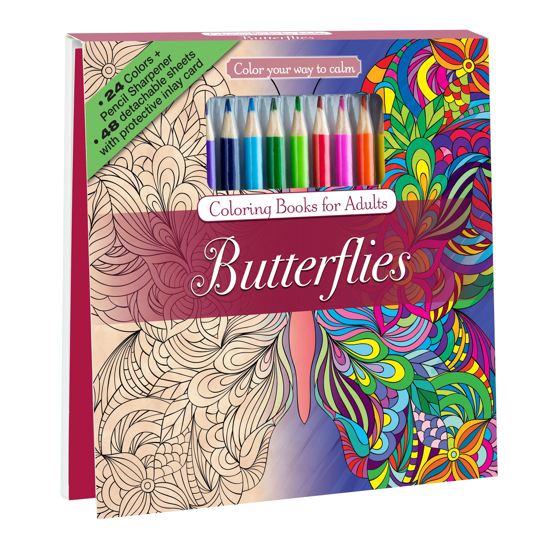 Adult Coloring Book Sets  Amazon Botanical Garden Adult Coloring Book Set With