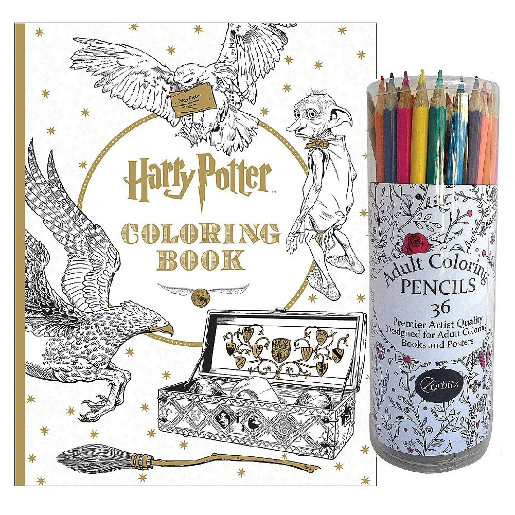 Adult Coloring Book Sets  Harry Potter Coloring Book with Movie Art and Adult