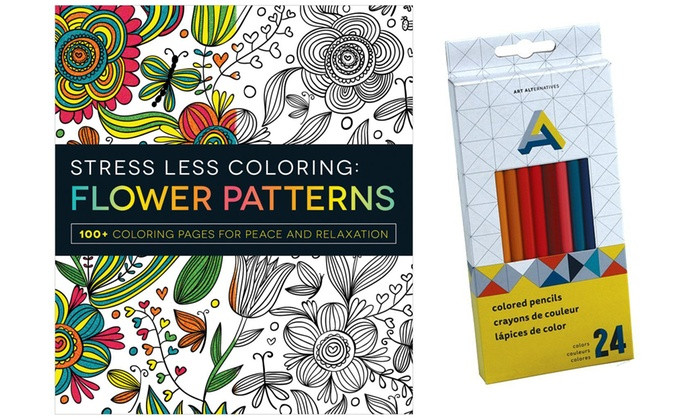 Adult Coloring Book Sets  Up To f on Adult Coloring Book and Pencils