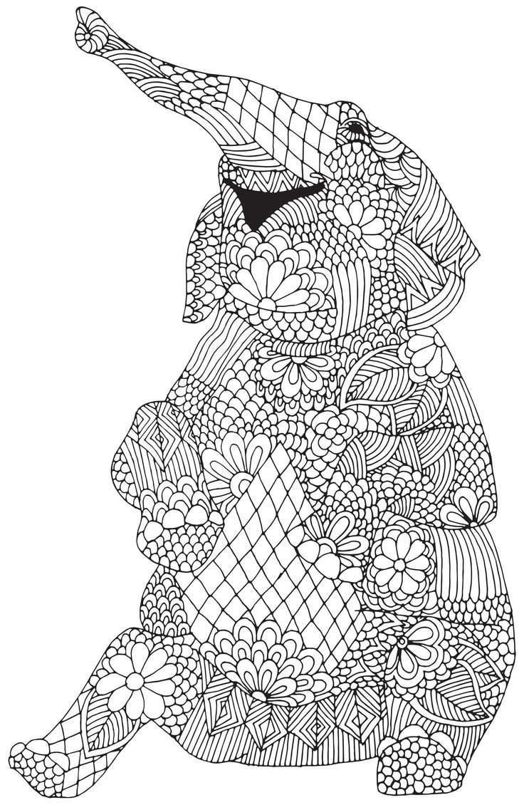 Best ideas about Adult Coloring Books Animals . Save or Pin Download Elephant Coloring Pages For Adults Now.
