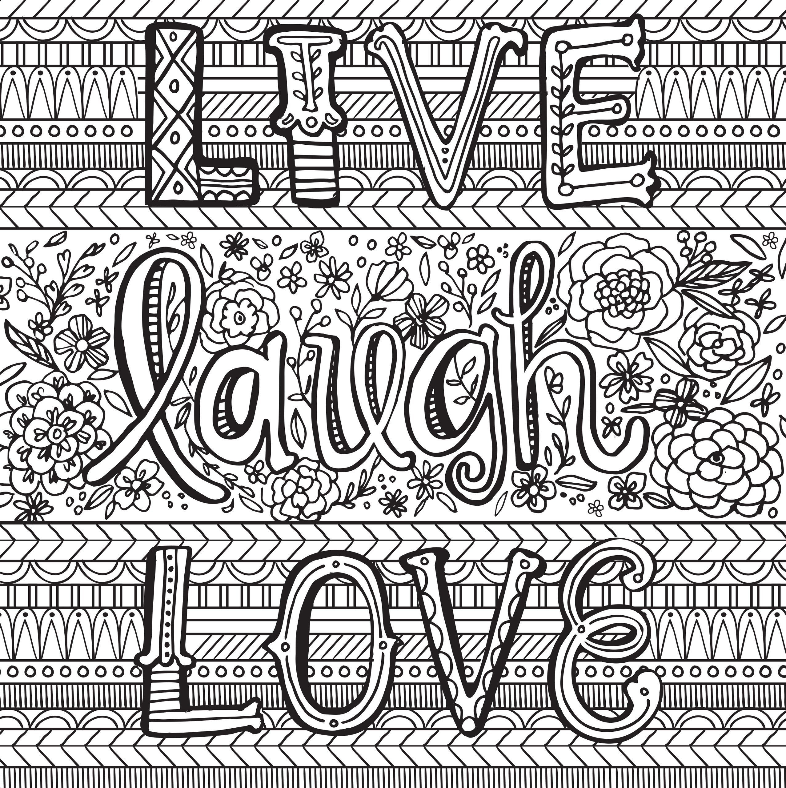 Adult Coloring Books Quotes  Adults Coloring Pages Sayings New Inspiration Coloring