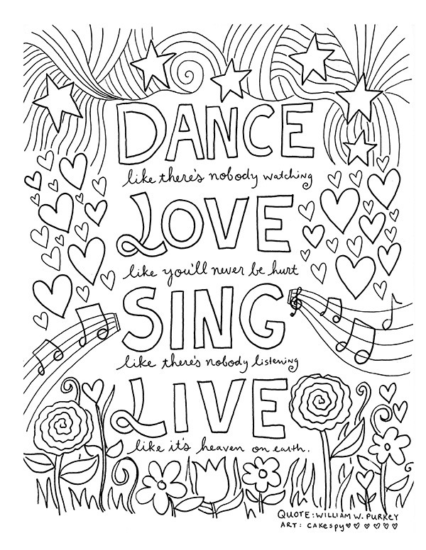 Adult Coloring Books Quotes  FREE Coloring Book Pages for Grown Ups Inspiring Quotes