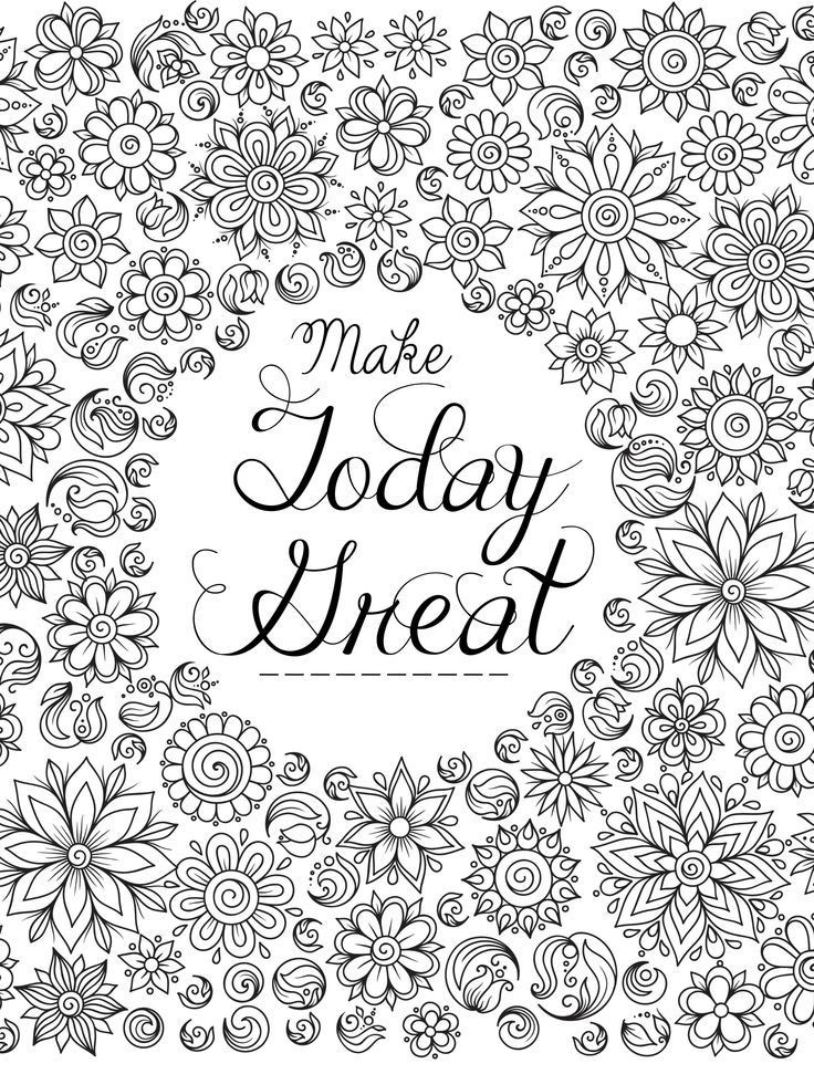 Adult Coloring Books Quotes  20 Gorgeous Free Printable Adult Coloring Pages
