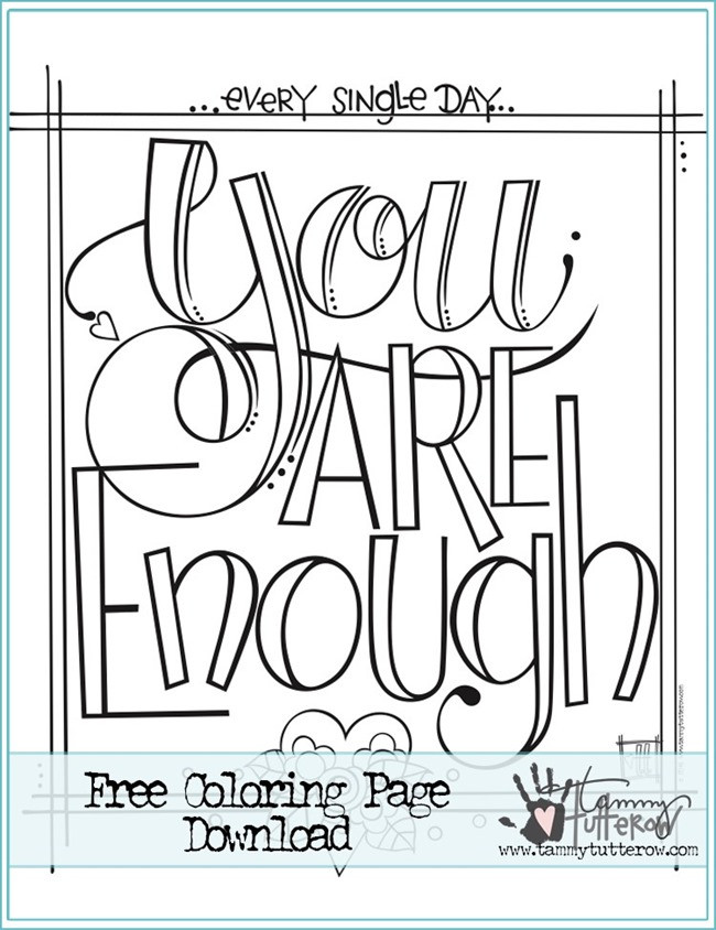 Adult Coloring Books Quotes  12 Inspiring Quote Coloring Pages for Adults–Free Printables
